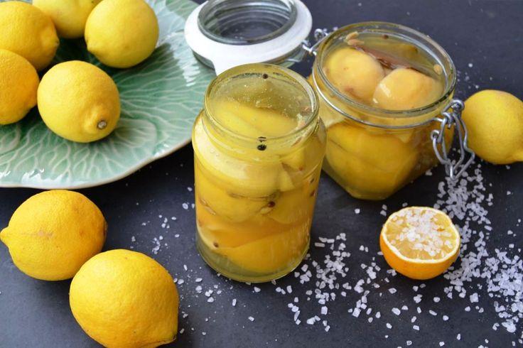 Eingelegte Zitronen Salzzitronen Rezept - Kochen aus Liebe