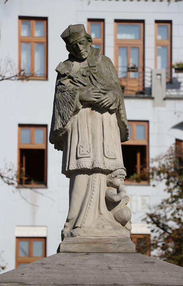 St. John of Nepomuc in the Old Town Square in Bielsko-Biala, Poland