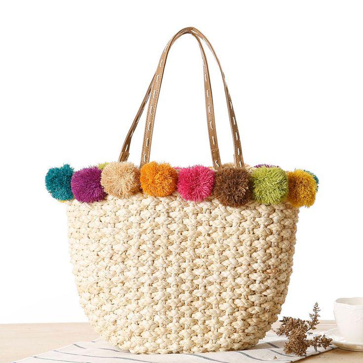 $19.99 (Buy here: https://alitems.com/g/1e8d114494ebda23ff8b16525dc3e8/?i=5&ulp=https%3A%2F%2Fwww.aliexpress.com%2Fitem%2F2016-Raffia-Corn-Skin-Woven-Women-Handbags-Straw-Bag-Summer-Manual-Women-Shoulder-Bags-for-Women%2F32638150951.html ) Raffia & Corn Skin Beach Bag Handmade Woven Handbags Straw Bag Summer Bohemia Holiday Shoulder Bags for Women Causal Tote L1075 for just $19.99