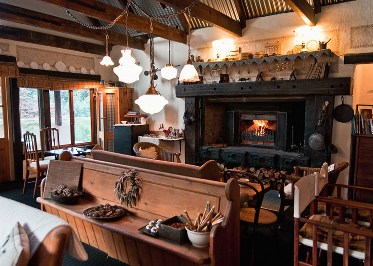 fireplace at Cleopatra Mountain Farmhouse