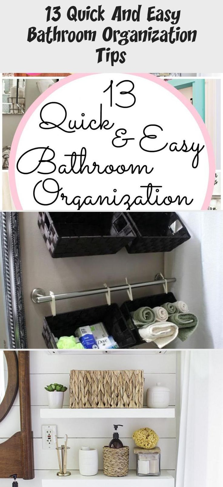 13 Quick And Easy Bathroom Organization Tips   – ideas