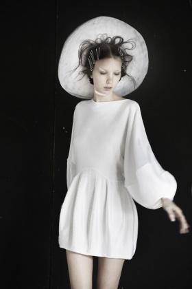 Love this..Gail Sorronda.  sleeves!  can use pm for skirt, make fuller?