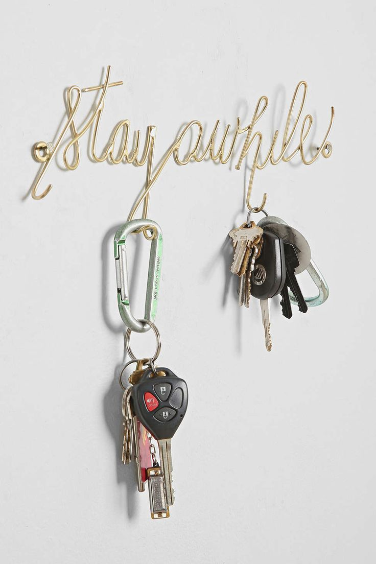 Plum & Bow Stay Awhile Wall Hook - Urban Outfitters