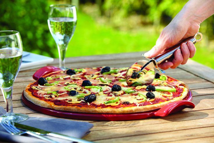 Kamień do pieczenia pizzy średni - czerwony - Emile Henry - DECO Salon #stone for #pizza #kitchenaccessories #baking