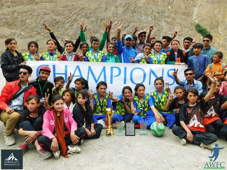 Winner of Shimshal Girls Football League 2017