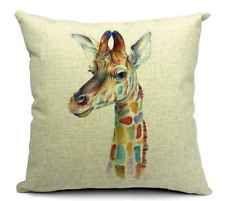 Vintage Giraffe Square 45cm 18inch Linen Cotton Cushion Cover Pillow Case