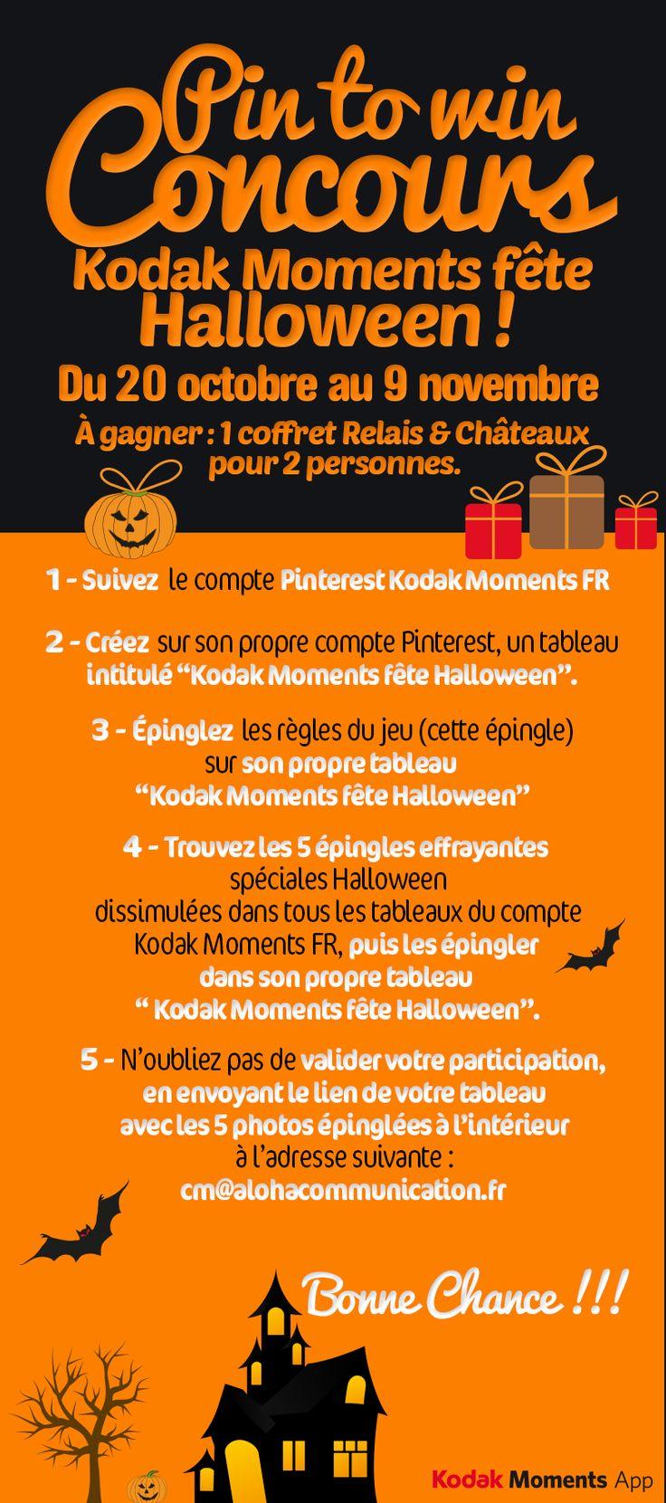 Tremblez, Kodak Moments FR se met aux couleurs d'Halloween avec le lancement d'un jeu concours maléfique ! A gagner: 1 coffret Relais & Châteaux pour 2 pers ! #jeu #halloween #win #contest