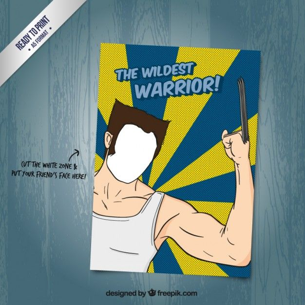 Wolverine card Free Vector