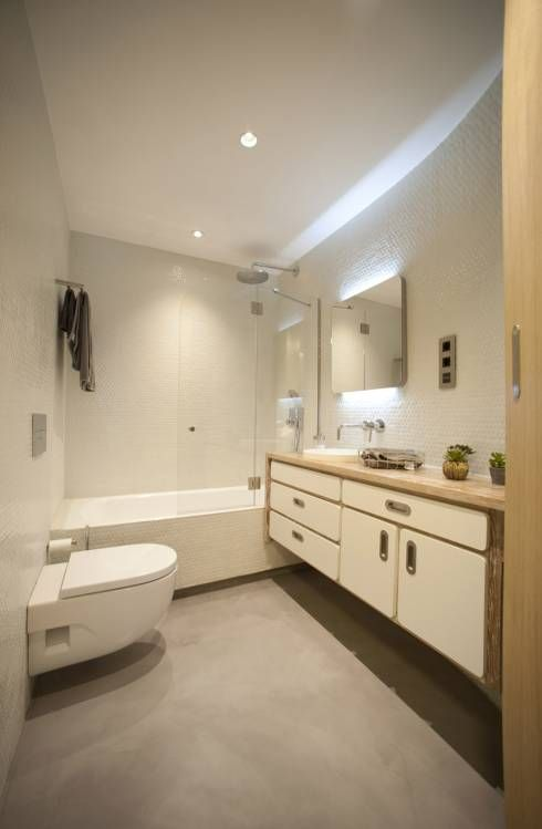 Modern bathroom by madg architect see what else the architect did in this apartment in