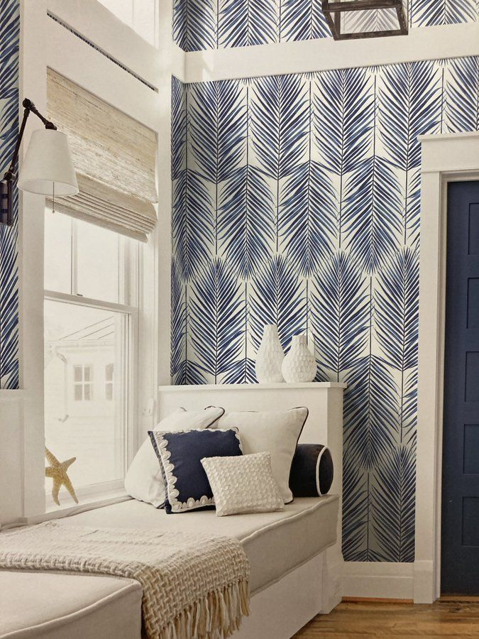 Paradise Palm Peel And Stick Wallpaper By Seabrook Lelands Wallpaper Palm Wallpaper Peel And Stick Wallpaper Chic Decor