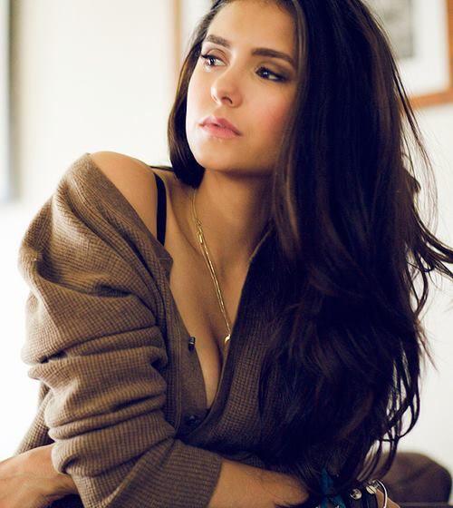 Nina Dobrev she is so pretty I am very jealous