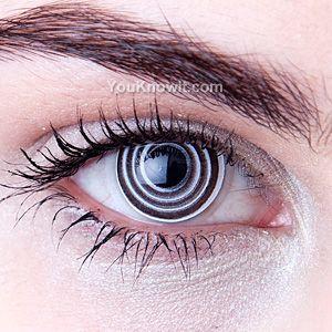 Novelty Contact Lenses | Black Spiral Novelty Contact Lenses