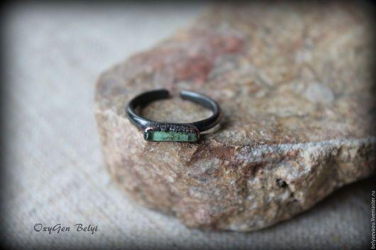 Кольца ручной работы. Ярмарка Мастеров - ручная работа. Купить Зеленый Кристалл Кольцо на фалангу Зеленый турмалин. Handmade. Зеленый