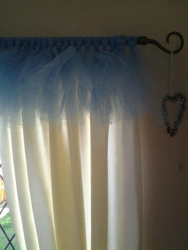 My design for a tutu curtain valance patio door in kitchen