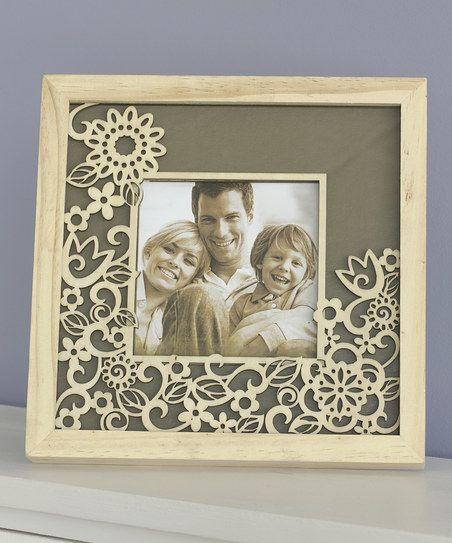Flourish Laser-Cut Wood Floral Frame | zulily