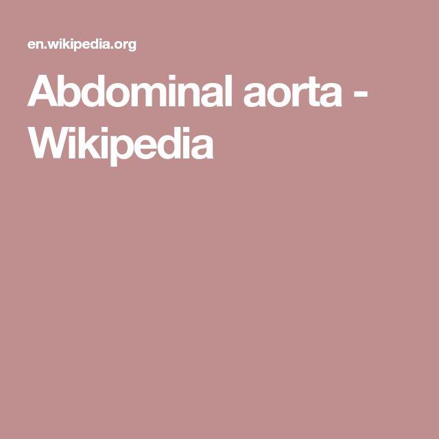 Abdominal aorta - Wikipedia