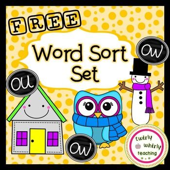 Free+Word+Sort++–+ou,+ow This+resource+is+a+sample+from+my +Diphthong+ou,+ow+Word+Sort+Set.+ Click+the+link+above+to+preview+the+entire+set! This+activity+includes: -+2+word+sorts+(in+color+and+black+&+white) +++*+The+first+sort+contains+words+with+the+diphthongs+ou+and+ow. +++*+The+second+sort+contains+words+with+the+diphthongs+ou+and+ow,+and+the+long+o+pattern+ow.
