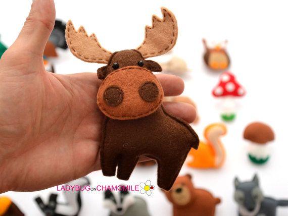 FOREST Animals WOODLAND animals felt magnets от LadybugOnChamomile