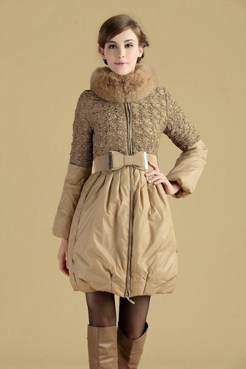 Womens LADY Winter coat fur collar 90% Duck Down Jacket