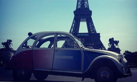 Une balade en 2 CV de 2h ou 6h30 dans les rues de Paris pour 2 personnes dès 159,90 € avec Paris Authentic