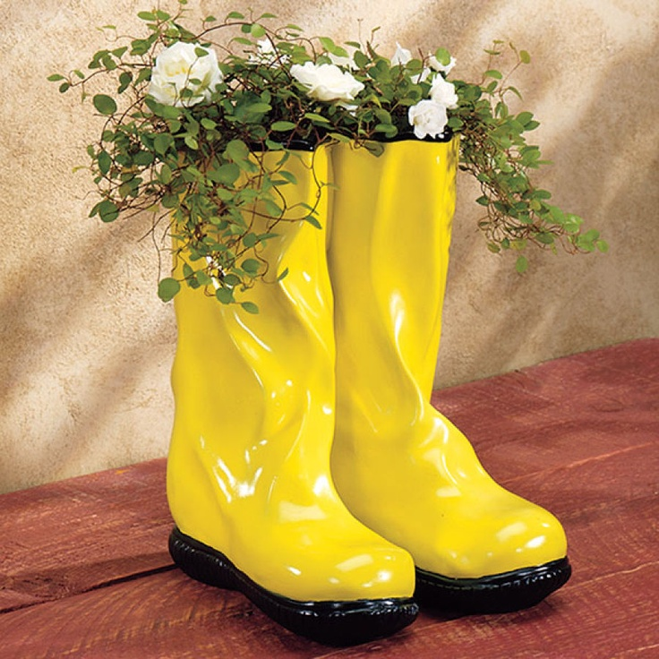 Garden Boot Planter Planter Looks Like Garden 'Wellies