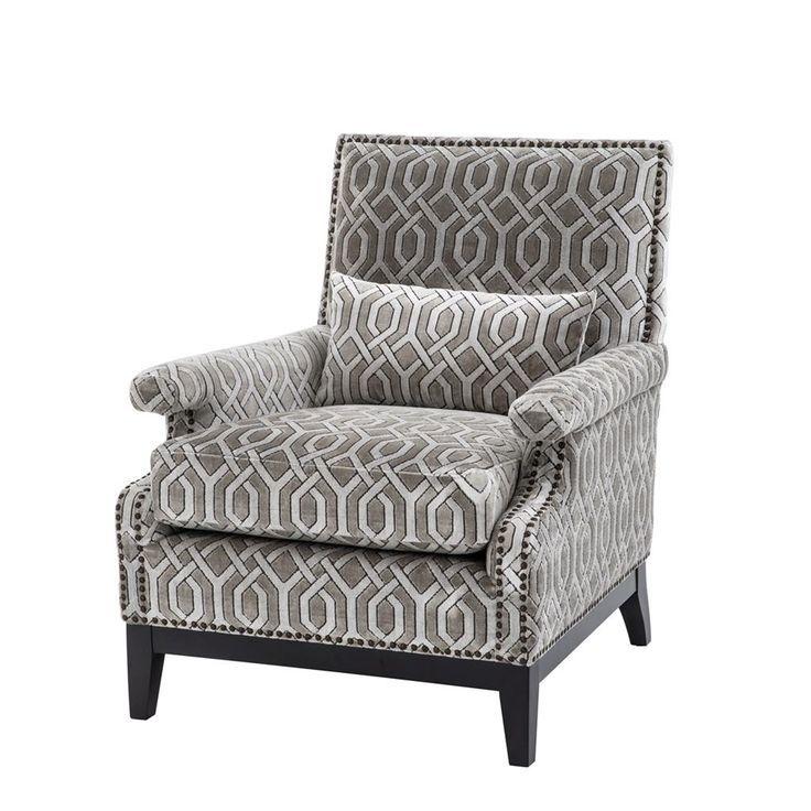 Eichholtz Goldoni Chair Patterned Chair Comfortable Accent
