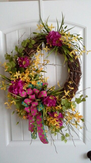 Grapevine spring wreath by kyong.