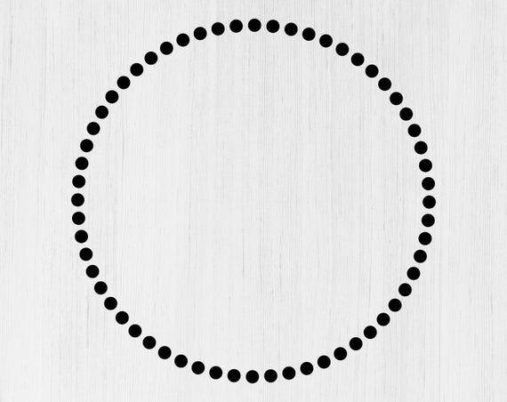 Dotted Frame Svg Dotted Circle Frame Svg Dotted Circle Svg Etsy Circle Frames Circle Monogram Svg