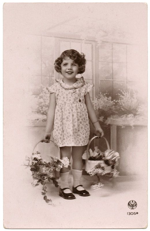 Vintage Pink Photo Postcard of a Little Girl by VintageToAntiquity, $1.50
