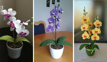 Tuto Orchidée au crochet