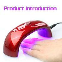 2014 9W 100-240V portátil Puente de Luz LED en forma de mini curado Máquina Cuidado arte lámpara Secador de uñas de gel UV enchufe de la UE