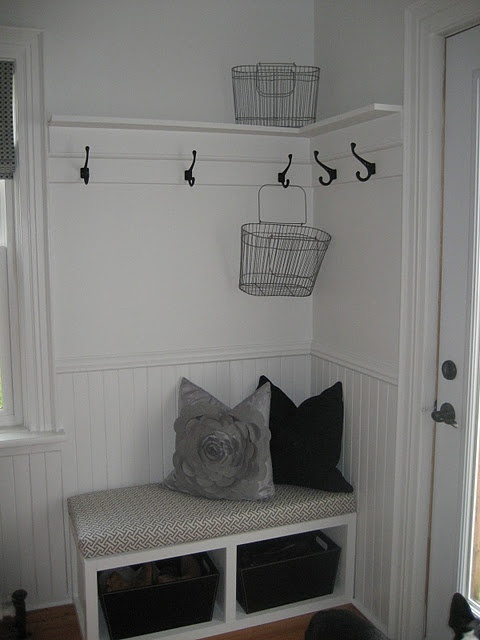 love the simple entryway; great repurposing ideas on this blog