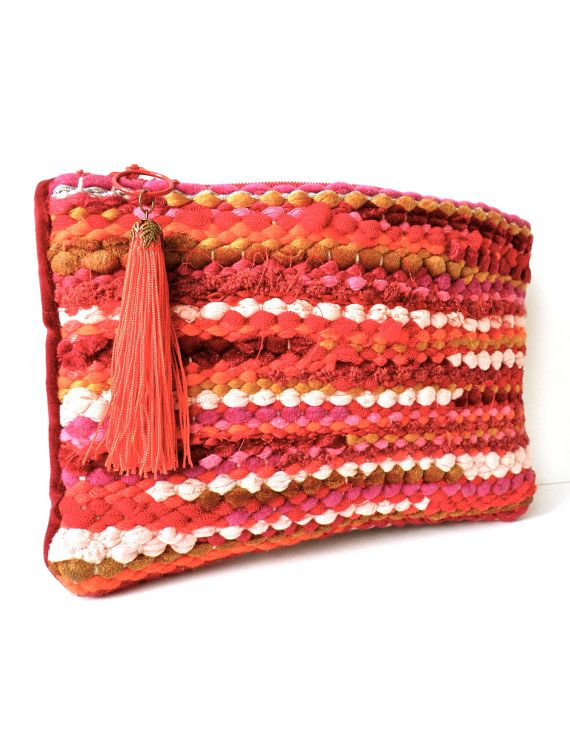 Handwoven with Fabric Threads Purse