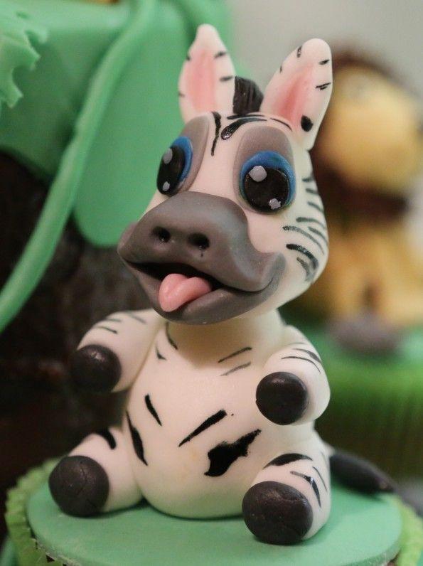 how to make a fondant zebra