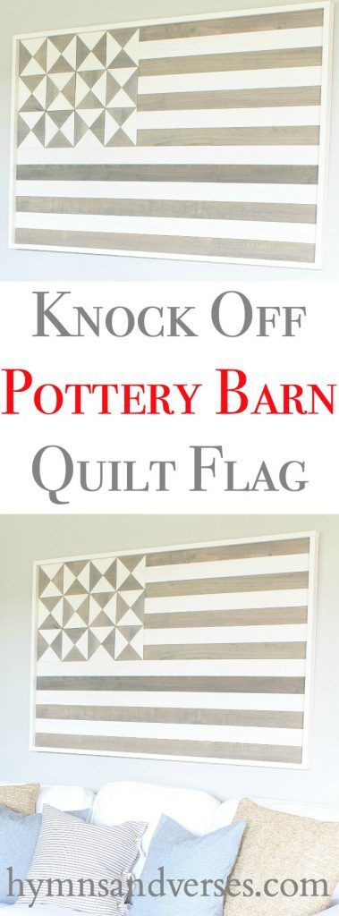 Knock Off DIY Pottery Barn Flag Wall Art - Hymns and Verses