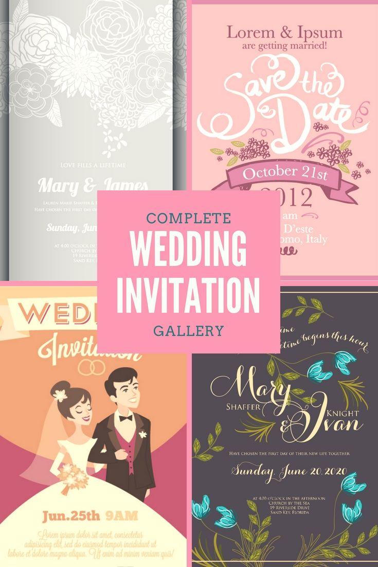 Elegant And Professional Wedding Invitation Cards Design Template
