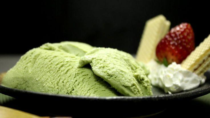 How to make Maccha Ice Cream 抹茶アイスクリームの作り方 Ingredients I used (serving 3~4) : 100ml milk : 40g granulated sugar (20g + 20g)) : 1 egg yalk ← yolk : 1 tbsp mac...