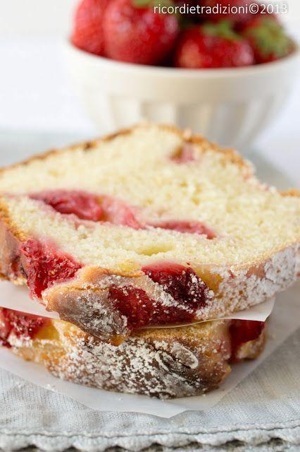 Cake allo yogurt con fragole e limoncello - da Ricette&co