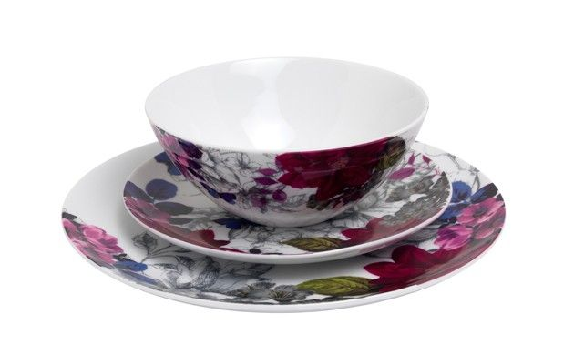 Midnight Bloom 12pc Dinner Set