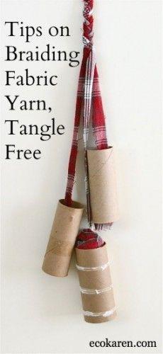 DIY: Tips on Braiding Fabric Yarn Tangle Free