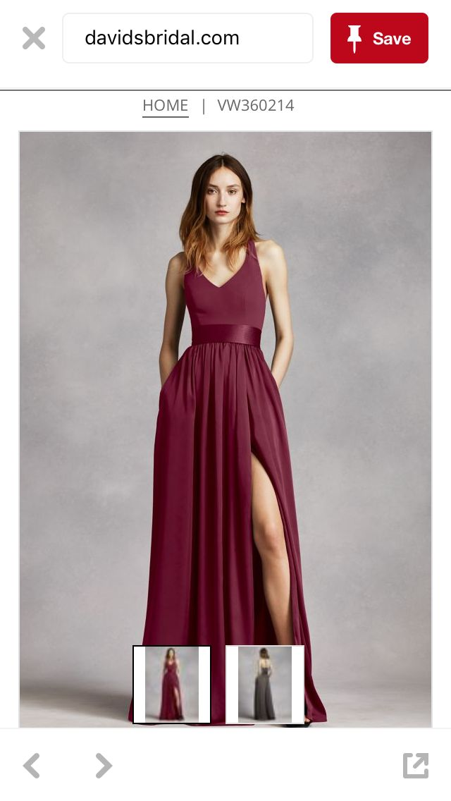 Wine / Oxblood / Burgundy Bridesmaid Dress - Vera Wang