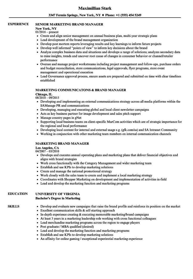 The Best Brand Manager Resume Check more at http