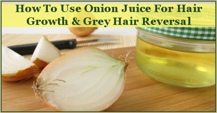 Onion Juice for Hair Growth and Reversing Grey with a link for more research