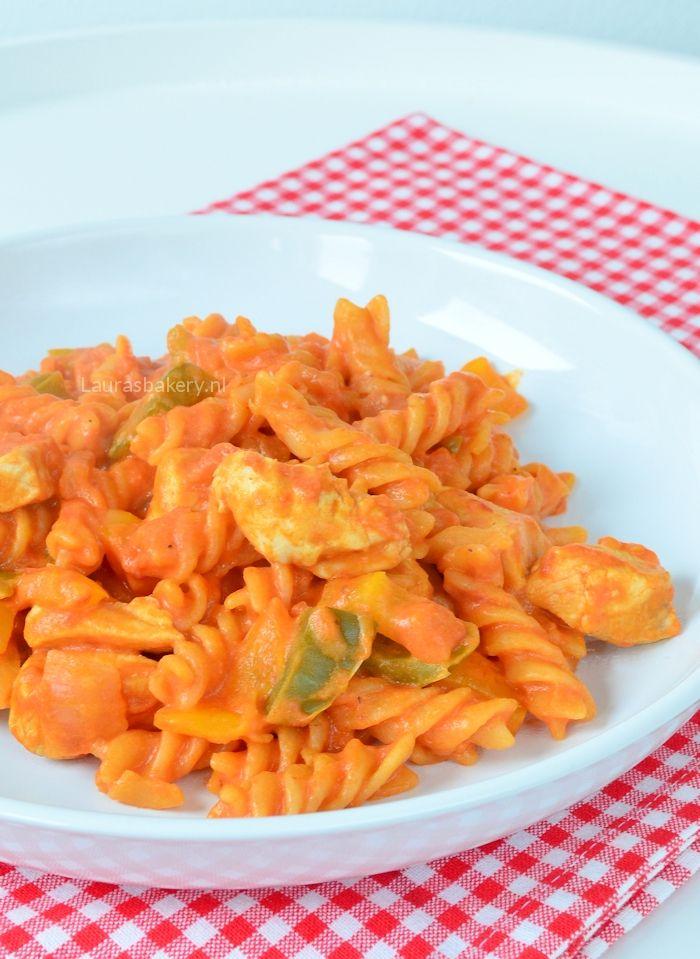 Eenpans pasta met kip