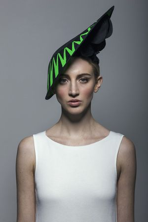 Electric Green arrows hat