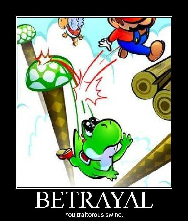 I actually know EXACTLY which world this is! This would make me so sad when it happened! I'm so sorry Yoshi. . .