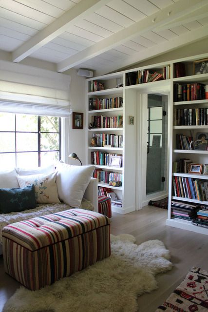 Bookshelves, colors: House Tours, Dream House, Apartment Therapy, Living Room, Book, Shiva S Eclectic, Reading Room, Modern Ranch