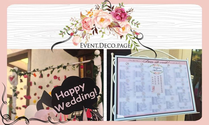 Wedding seating chart by Event Deco. Find us on Facebook, Event.Deco.page!