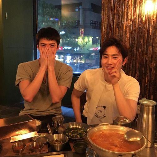 Sehun and Suho