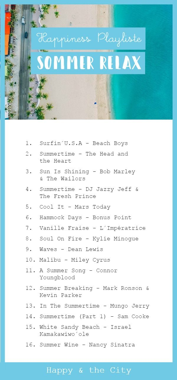 [ Happiness Playliste ] Sommer Relax - Happy & The City